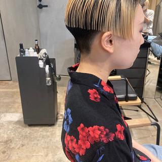 ブリーチカラー ショートヘア ストリート ショート ヘアスタイルや髪型の写真・画像