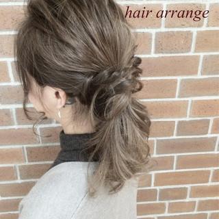 ヘアアレンジ セミロング 大人女子 外国人風 ヘアスタイルや髪型の写真・画像
