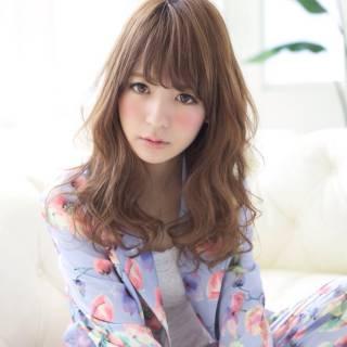 丸顔 セミロング 春 コンサバ ヘアスタイルや髪型の写真・画像