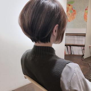 ショートヘア アンニュイほつれヘア デート 小顔ショート ヘアスタイルや髪型の写真・画像