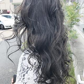 アッシュ 外国人風カラー ハイライト ナチュラル ヘアスタイルや髪型の写真・画像