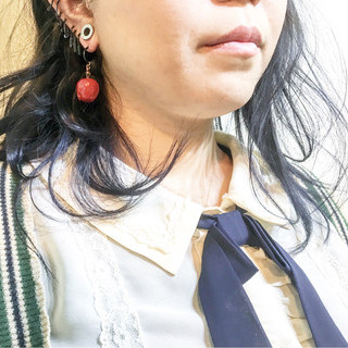ハイトーン ボブ エアリー ストリート ヘアスタイルや髪型の写真・画像