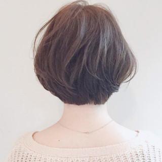 大人女子 ナチュラル ショート 色気 ヘアスタイルや髪型の写真・画像