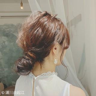 デート ハイライト ロング ゆるふわ ヘアスタイルや髪型の写真・画像