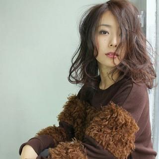 ミディアム 色気 外国人風 ガーリー ヘアスタイルや髪型の写真・画像