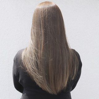 透明感 ロング ハイライト アッシュ ヘアスタイルや髪型の写真・画像