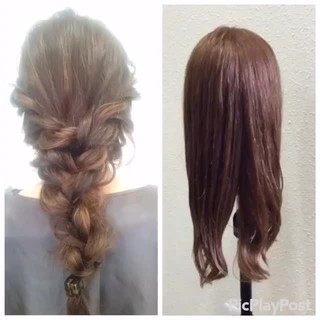 ヘアアレンジ ショート ロング 二次会 ヘアスタイルや髪型の写真・画像