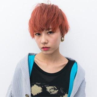 ストリート ベリーショート 外国人風 外国人風カラー ヘアスタイルや髪型の写真・画像