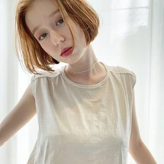 アンニュイほつれヘア 透明感カラー ボブ ナチュラル ヘアスタイルや髪型の写真・画像