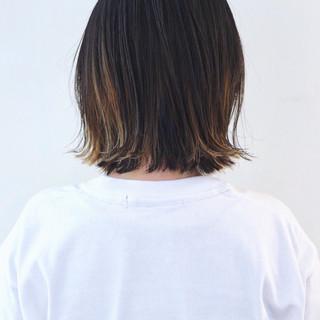 グラデーションカラー バレイヤージュ インナーカラー ストリート ヘアスタイルや髪型の写真・画像