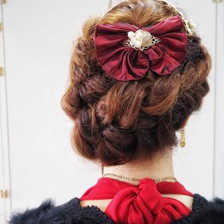 ロング 編み込み 三つ編み 簡単ヘアアレンジ ヘアスタイルや髪型の写真・画像