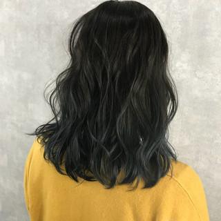 ストリート ハイライト ミディアム ダブルカラー ヘアスタイルや髪型の写真・画像