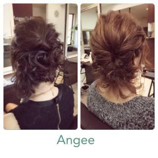 結婚式 コンサバ フェミニン モテ髪 ヘアスタイルや髪型の写真・画像