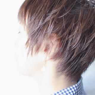 ショートボブ 大人女子 ショート マッシュ ヘアスタイルや髪型の写真・画像
