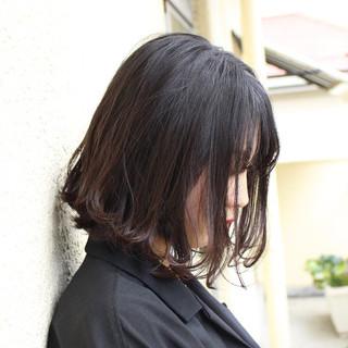 艶カラー ミニボブ ナチュラル イルミナカラー ヘアスタイルや髪型の写真・画像