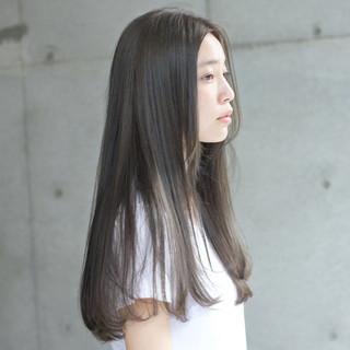 ハイライト パーマ ロング 縮毛矯正 ヘアスタイルや髪型の写真・画像