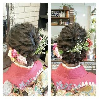 ナチュラル ロング 外国人風 ハーフアップ ヘアスタイルや髪型の写真・画像