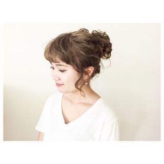 ルーズ ゆるふわ ヘアアレンジ 夏 ヘアスタイルや髪型の写真・画像