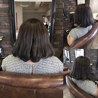 ミディアム 暗髪 ストリート ボブ ヘアスタイルや髪型の写真・画像