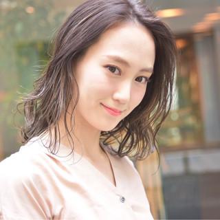 外国人風 ハイライト フェミニン 爽やか ヘアスタイルや髪型の写真・画像