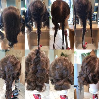 三つ編み ショート 簡単ヘアアレンジ ヘアアレンジ ヘアスタイルや髪型の写真・画像