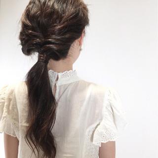 大人かわいい 簡単ヘアアレンジ かわいい ナチュラル ヘアスタイルや髪型の写真・画像