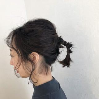 簡単ヘアアレンジ ヘアアレンジ ナチュラル ボブ ヘアスタイルや髪型の写真・画像