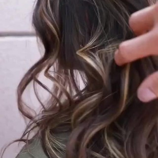 ハイライト ロング ヘアアレンジ グラデーションカラー ヘアスタイルや髪型の写真・画像