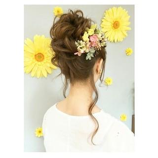 ウェーブ デート アンニュイ ヘアアレンジ ヘアスタイルや髪型の写真・画像