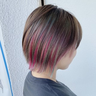 ショート 透明感カラー 圧倒的透明感 きれいめ ヘアスタイルや髪型の写真・画像