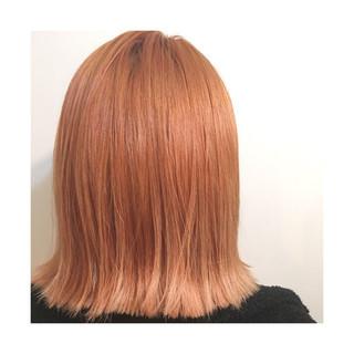 外国人風 オレンジ ストリート イエロー ヘアスタイルや髪型の写真・画像
