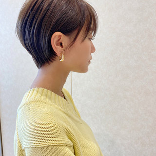 ベージュ ハイライト ショートボブ ショート ヘアスタイルや髪型の写真・画像