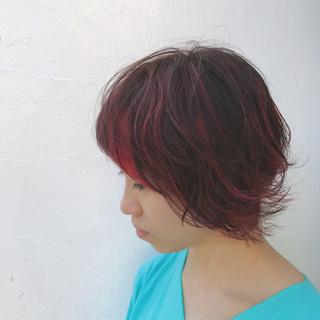 ショート ストリート ブリーチ 個性的 ヘアスタイルや髪型の写真・画像
