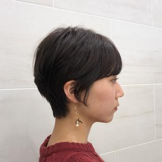 ショート ナチュラル ハンサムショート ヘアアレンジ ヘアスタイルや髪型の写真・画像