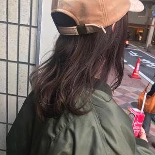 キャップ ストリート ハイライト ミディアム ヘアスタイルや髪型の写真・画像