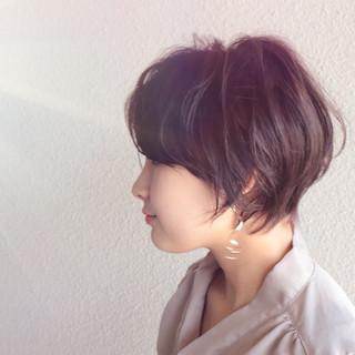 マッシュショート ショート フェミニン ショートボブ ヘアスタイルや髪型の写真・画像