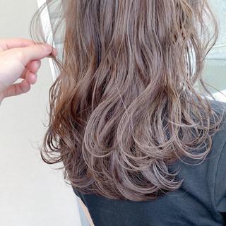 大人ロング 透明感 透明感カラー レイヤーロングヘア ヘアスタイルや髪型の写真・画像