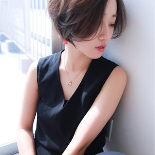 色気 ボブ モード ショート ヘアスタイルや髪型の写真・画像