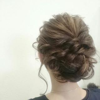 ショート 簡単ヘアアレンジ 大人女子 結婚式 ヘアスタイルや髪型の写真・画像