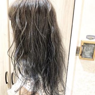 ハイライト 大人ハイライト セミロング アディクシーカラー ヘアスタイルや髪型の写真・画像
