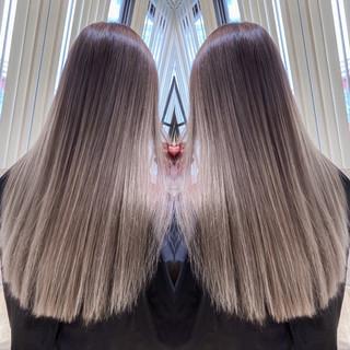 ハイトーンボブ ハイトーン バレイヤージュ ロング ヘアスタイルや髪型の写真・画像
