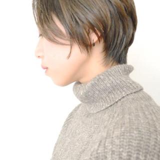 ナチュラル 秋 透明感 ショート ヘアスタイルや髪型の写真・画像