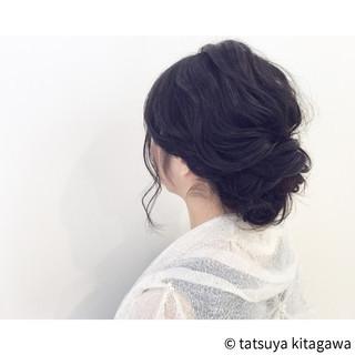 セミロング ゆるふわ 外国人風 結婚式 ヘアスタイルや髪型の写真・画像
