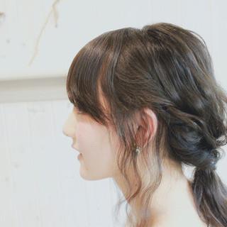 外国人風 ナチュラル ヘアアレンジ 簡単ヘアアレンジ ヘアスタイルや髪型の写真・画像