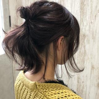 ナチュラル アウトドア ウェーブ 簡単ヘアアレンジ ヘアスタイルや髪型の写真・画像