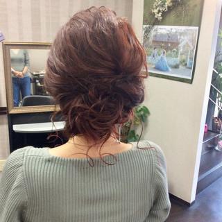 ヘアアレンジ ナチュラル 簡単ヘアアレンジ セミロング ヘアスタイルや髪型の写真・画像