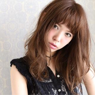 ストリート セミロング 外国人風 大人かわいい ヘアスタイルや髪型の写真・画像