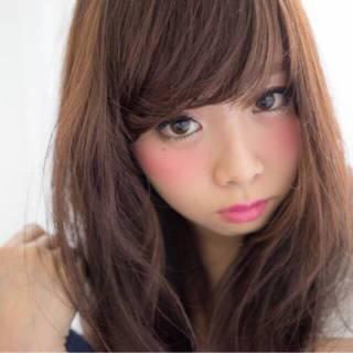 暗髪 ロング ナチュラル かわいい ヘアスタイルや髪型の写真・画像