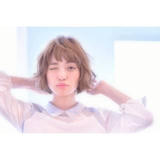 モテ髪 コンサバ ベージュ 春 ヘアスタイルや髪型の写真・画像