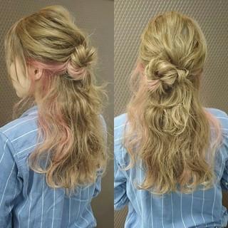 ショート 波ウェーブ ロング ゆるふわ ヘアスタイルや髪型の写真・画像